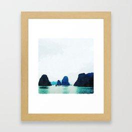 Twilight in Halong Bay Framed Art Print