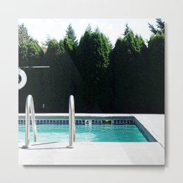 Pool day Metal Print