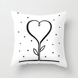 I love you - heart flower Throw Pillow