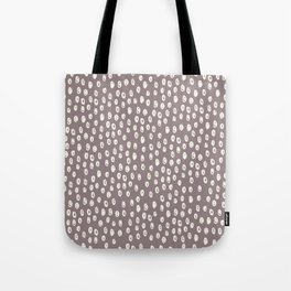 Mauve grayish pink white geometrical polka dots pattern Tote Bag