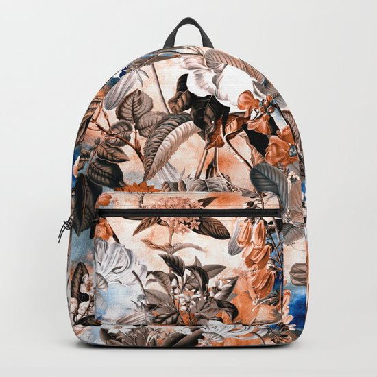 Seamless Botanical Pattern Backpack