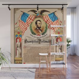 1863 Emancipation Proclamation by President Abraham Lincoln Wall Mural