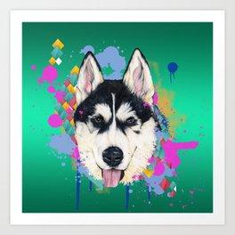 Husky Malamute Art Print