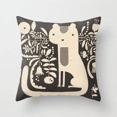 FLAMBOYANT WHISKERS Throw Pillow