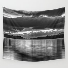 """""""Sunset After The Storm""""  BW Wall Tapestry"""