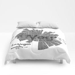 Las Vegas Map Comforters