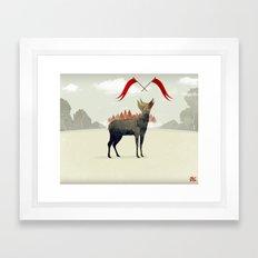 Wood Hyena Framed Art Print