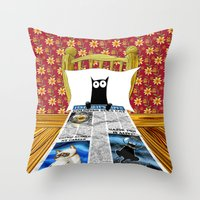 duvet cover Throw Pillows featuring Duvet Cover by Andrew Hitchen