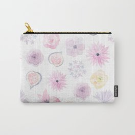Pastel pink lilac watercolor hand painted floral pattern Carry-All Pouch