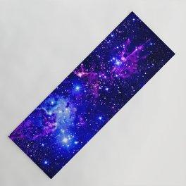 Fox Fur Nebula Galaxy blue purple Yoga Mat