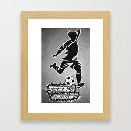 SOCCER FAN Framed Art Print