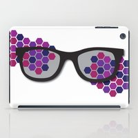 glasses iPad Cases featuring Glasses by Laura Stiner