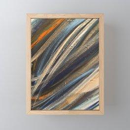 Dark Brushstrokes Painting Framed Mini Art Print