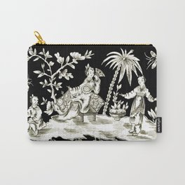 Black & White Chinoiserie Carry-All Pouch
