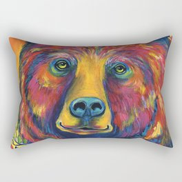 GOT BERRIES GRIZZLY BEAR Rectangular Pillow