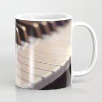 piano Mugs featuring Piano by Herzensdinge