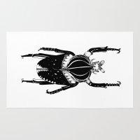 beetle Area & Throw Rugs featuring Beetle  by Lana Alana