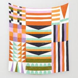 Bauhaus Mod - Oranges Wall Tapestry