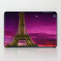 eiffel tower iPad Cases featuring Eiffel Tower  by Elena Indolfi