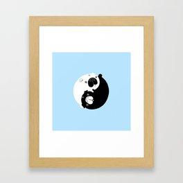 Yin Yang Pugs Framed Art Print