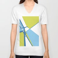 the wire V-neck T-shirts featuring High Wire by Ryan Johnson