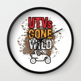 UTVs Gone Wild Trucks ATVs Quads Riding Mudding 4 Wheeler Wall Clock