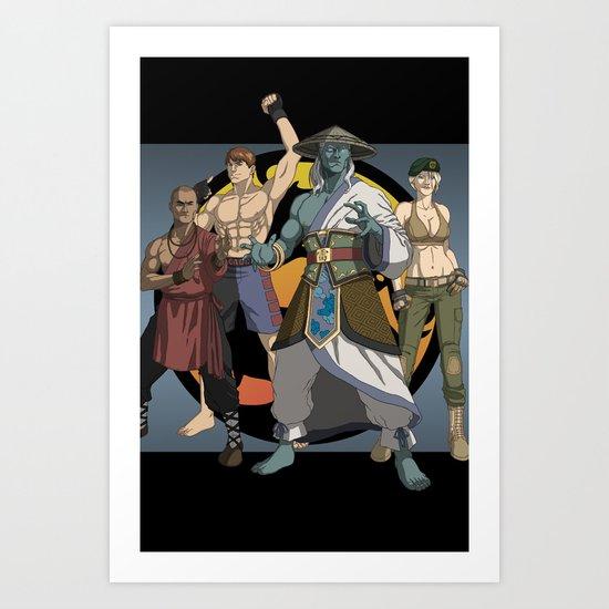 Mortal Kombat: Warriors of Light Art Print