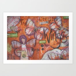 Creative Wings Art Print