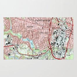 Fayetteville North Carolina Map (1997) Rug
