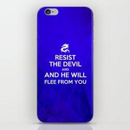 Resist the Devil - Bible Lock Screens iPhone Skin