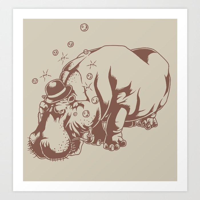 Hippo-Thesis Art Print