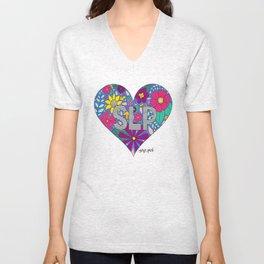 Whimsical Heart SLP Unisex V-Neck