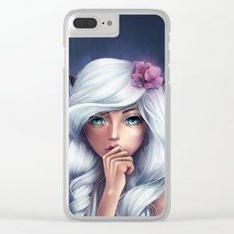 White-haired Girl Clear iPhone Case