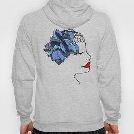 Blue Rose Headpiece Hoody