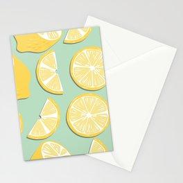Lemon Pattern 11 Stationery Cards