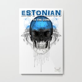 To The Core Collection: Estonia Metal Print