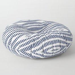 Indigo Pattern - Indigo / Navy & White Floor Pillow
