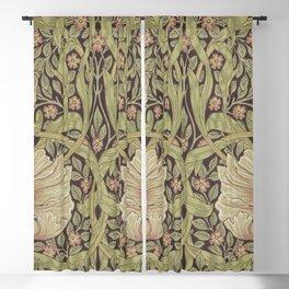 William Morris Vintage Pimpernel Bullrush Russet Blackout Curtain