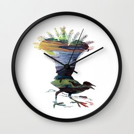 Lyrebird Wall Clock