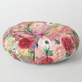 Vintage shell pink bouquet Floor Pillow