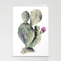 cactus Stationery Cards featuring CACTUS by Annet Weelink Design