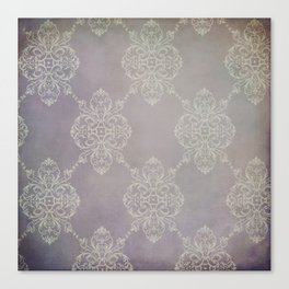Vintage Damask - Violet Canvas Print