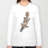 platypus Long Sleeve T-shirts featuring Platypus by K J Guindon
