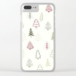 Winter Trees in Snowy Day Clear iPhone Case