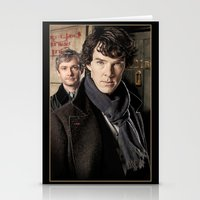 sherlock Stationery Cards featuring Sherlock  by SB Art Productions