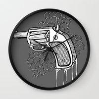 gun Wall Clocks featuring Gun by WithoutG