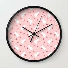 Origami Bunny Wall Clock