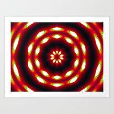 Supermoon Mandala Art Print