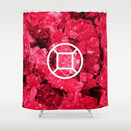 Ruby Candy Gem Shower Curtain