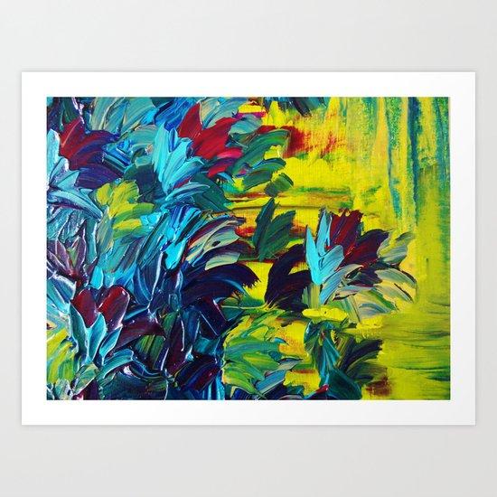 FLORA - Gorgeous Lemon Lime Citrine Chartreuse Floral Bouquet Garden Flowers Colorful Nature Beauty Art Print